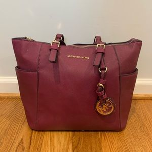 Michael Kors Purple Tote Shoulder Bag